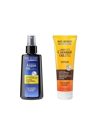 Marc Anthony Marc Anthony Coconut Biotin Yıpranmış Saç Şampuanı 250 Ml+Argan Ve Keratin Kuru Yağ 120 Ml Renksiz